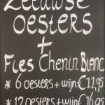 Krijtbord zeeuwse oesters